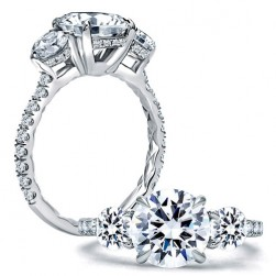 A.JAFFE Platinum Classic Engagement Ring ME1854Q