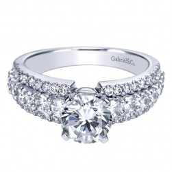 Gabriel 14 Karat Contemporary Engagement Ring ER5260W44JJ