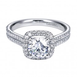 Gabriel 14 Karat Contemporary Engagement Ring ER6984W44JJ