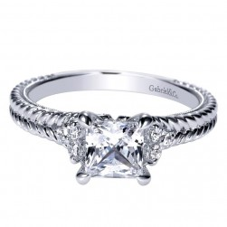Gabriel 14 Karat Contemporary Engagement Ring ER8815W44JJ