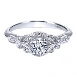 Gabriel 14 Karat Contemporary Engagement Ring ER911732R0W44JJ