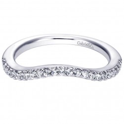 Gabriel 14 Karat Contemporary Wedding Band WB6000W44JJ
