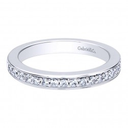 Gabriel 14 Karat Contemporary Wedding Band WB9638W44JJ