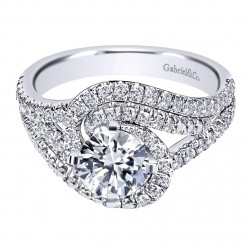 Gabriel 14 Karat Contemporary Engagement Ring ER10102W44JJ