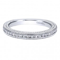 Gabriel 14 Karat Contemporary Wedding Band WB10279W44JJ