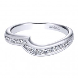 Gabriel 14 Karat Contemporary Wedding Band WB10463W44JJ