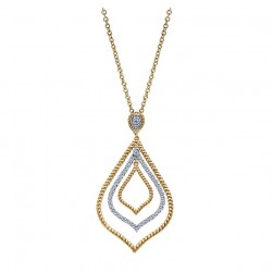 Gabriel Fashion 14 Karat Hampton Diamond Necklace NK2470Y44JJ