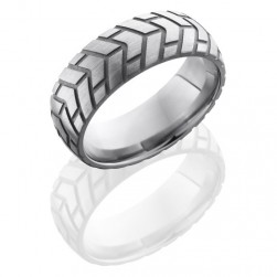 Lashbrook 8DCycle3 Sand-Satin Titanium Wedding Ring or Band