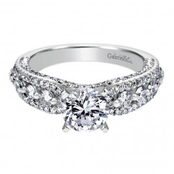 Gabriel 14 Karat Contemporary Engagement Ring ER6986W44JJ