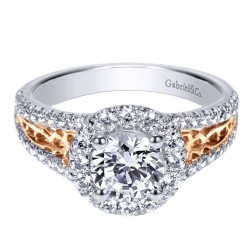 Gabriel 14 Karat Contemporary Engagement Ring ER9034T44JJ