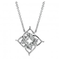 Gabriel Fashion Silver Blossoming Heart Necklace NK3970SVJWS