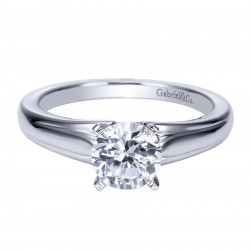 Gabriel Platinum Contemporary Engagement Ring ER8075PTJJJ