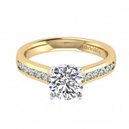 Gabriel 14 Karat Contemporary Engagement Ring ER8191M44JJ