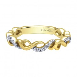 Gabriel Fashion 14 Karat Stackable Stackable Ladies' Ring LR4878Y44JJ
