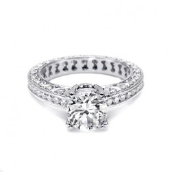 Tacori 18 Karat Crescent Engagement Ring HT2326SMSOL