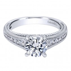 Gabriel 14 Karat Contemporary Engagement Ring ER10120W44JJ