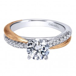 Gabriel 14 Karat Contemporary Engagement Ring ER10300T44JJ