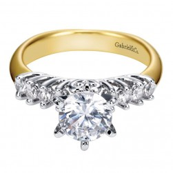 Gabriel 14 Karat Contemporary Engagement Ring ER3959M44JJ
