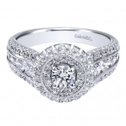Gabriel 14 Karat Contemporary Engagement Ring ER910164W44JJ