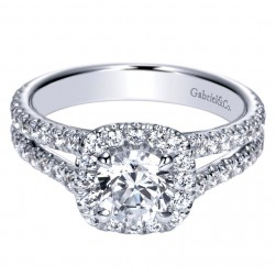 Gabriel 14 Karat Contemporary Engagement Ring ER98605W44JJ