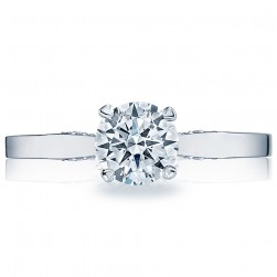 3002-3000RD6 Platinum Simply Tacori Engagement Ring