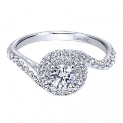 Gabriel 14 Karat Contemporary Engagement Ring ER911728R0W44JJ