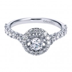 Gabriel 14 Karat Contemporary Engagement Ring ER97029W44JJ