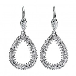 Gabriel Fashion 14 Karat Lusso Diamond Drop Earrings EG11704W44JJ