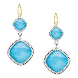 SE118Y05 Tacori 18k925 Silver & Gold Earrings