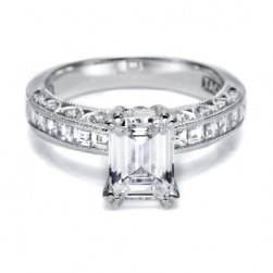 Tacori Crescent Platinum Engagement Ring HT2273SOL12