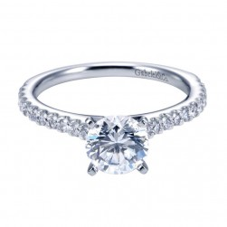 Gabriel 14 Karat Contemporary Engagement Ring ER6675W44JJ