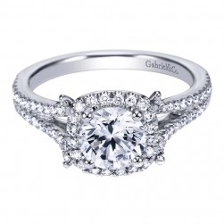 Gabriel 14 Karat Contemporary Engagement Ring ER7272W44JJ