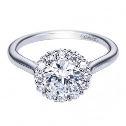 Gabriel 14 Karat Contemporary Engagement Ring ER7498W44JJ