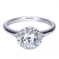 Gabriel 14 Karat Contemporary Engagement Ring ER7809W44JJ