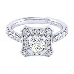 Gabriel 14 Karat Perfect Match Engagement Ring ER039B3AEW44JJ
