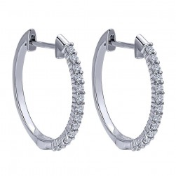 Gabriel Fashion 14 Karat Hoops Hoop Earrings EG12227W45JJ