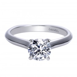 Gabriel Platinum Contemporary Engagement Ring ER8177PTJJJ