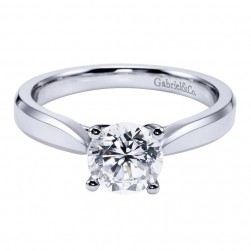 Gabriel 14 Karat Contemporary Engagement Ring ER6591W4JJJ