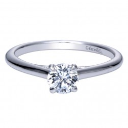 Gabriel 14 Karat Contemporary Engagement Ring ER8686W4JJJ