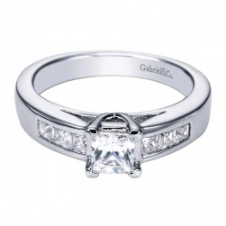 Gabriel 14 Karat Contemporary Engagement Ring ER93886W44JJ
