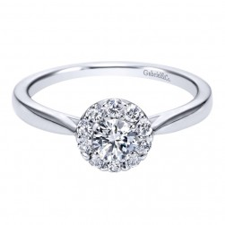 Gabriel 14 Karat Contemporary Engagement Ring ER97762W44JJ