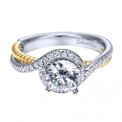Gabriel 14 Karat Contemporary Engagement Ring ER5362M43JJ