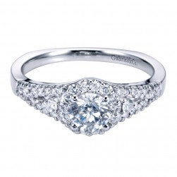 Gabriel 14 Karat Contemporary Engagement Ring ER6544W44JJ