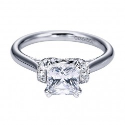 Gabriel 14 Karat Contemporary Engagement Ring ER6966W44JJ