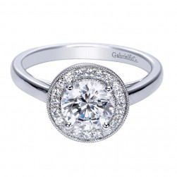 Gabriel 14 Karat Contemporary Engagement Ring ER7813W44JJ