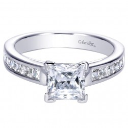 Gabriel 14 Karat Contemporary Engagement Ring ER7907W44JJ