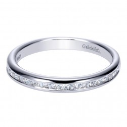 Gabriel 14 Karat Contemporary Wedding Band WB8956W44JJ