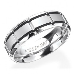 Verragio Platinum In-Gauge Wedding Band RU-7005