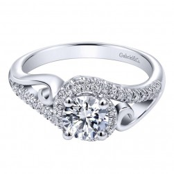 Gabriel 14 Karat Contemporary Engagement Ring ER10450W44JJ
