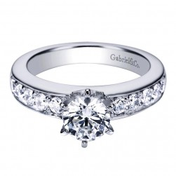 Gabriel 14 Karat Contemporary Engagement Ring ER3884W44JJ